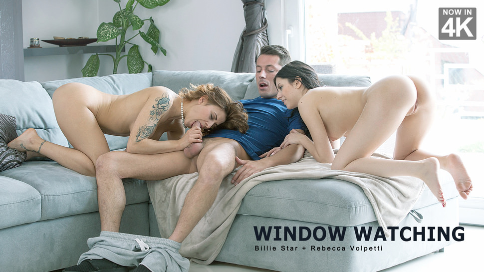 StepMomLessons – Window Watching – Billie Star, Rebecca Volpetti
