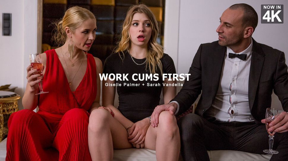 StepMomLessons – Work Cums First – Giselle Palmer , Sarah Vandella
